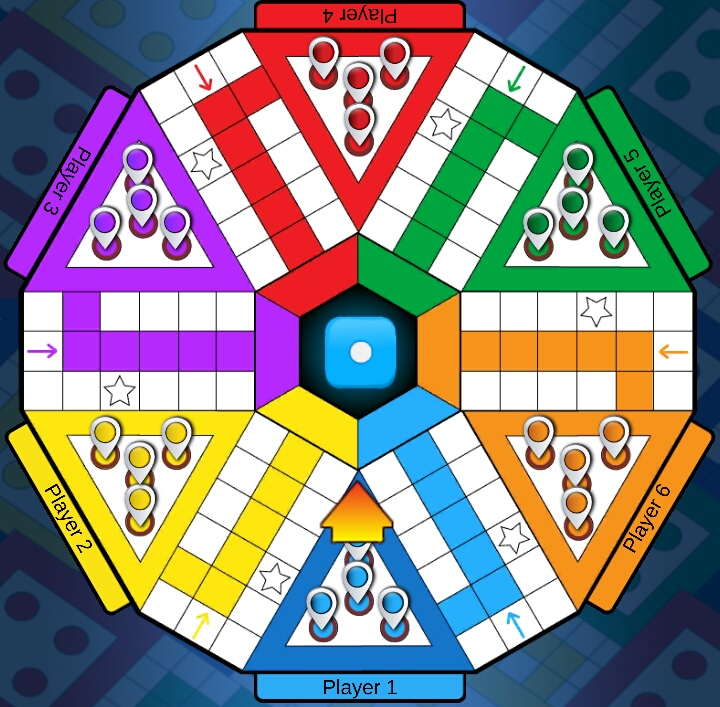 Image result for 6 Player XXL Ludo Board Game
